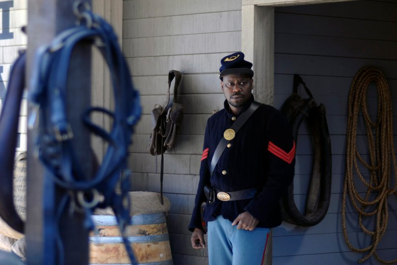 """TIMELESS -- """"The Assassination of Abraham Lincoln"""" Episode 101 -- Pictured: Malcolm Barrett as Rufus Carlin -- (Photo by: Sergei Bachlakov/NBC)"""