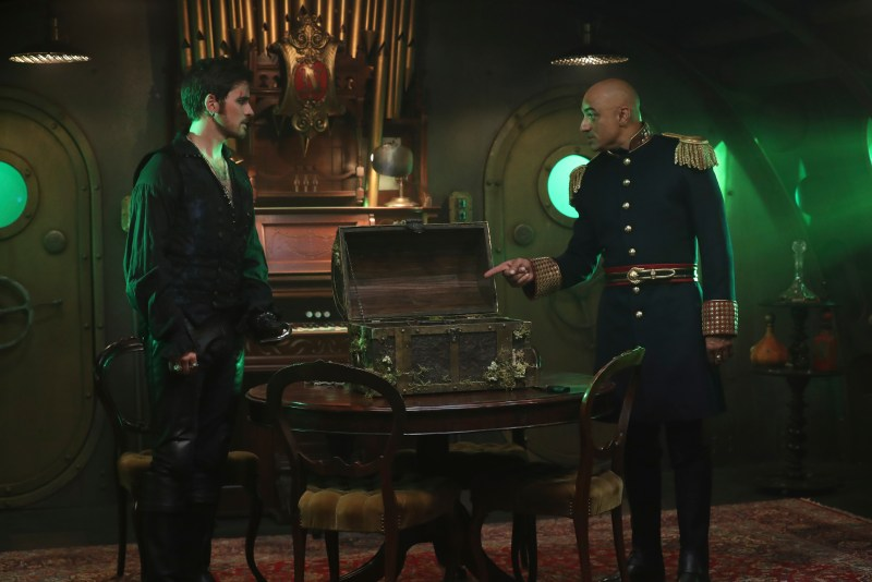 That's CAPTAIN Clean. MISTER Clean was my father. (ABC/Jack Rowand) COLIN O'DONOGHUE, FARAN TAHIR