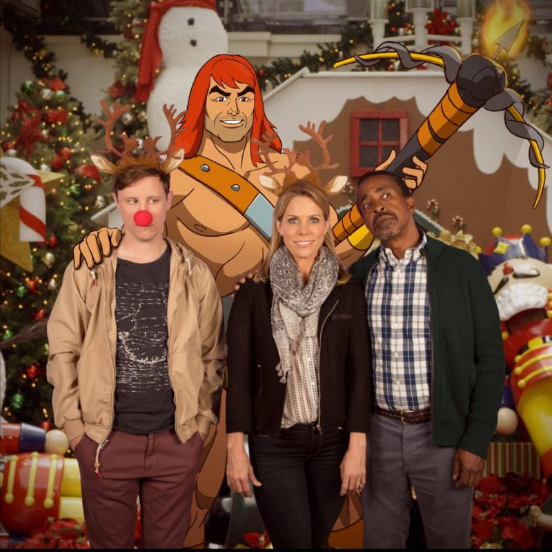 """SON OF ZORN: L-R: Johnny Pemberton, Zorn (voiced by Jason Sudeikis), Cheryl Hines and Tim Meadows in the """"Happy Grafelnik"""" episode of SON OF ZORN airing Sunday, Dec. 11 (8:30-9:00 PM ET/PT) on FOX. ©2016 Fox Broadcasting Co. Cr: FOX"""