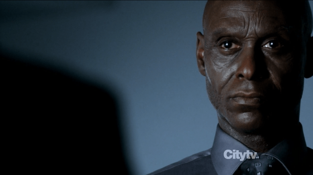 Lance Reddick in Fringe The Bullet that saved the World as agent Broyles