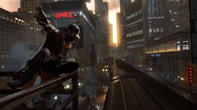 Watch Dogs - Aiden jumping on train