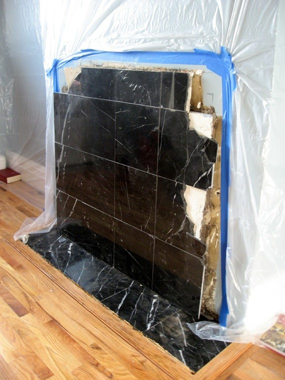 fireplace marble cover