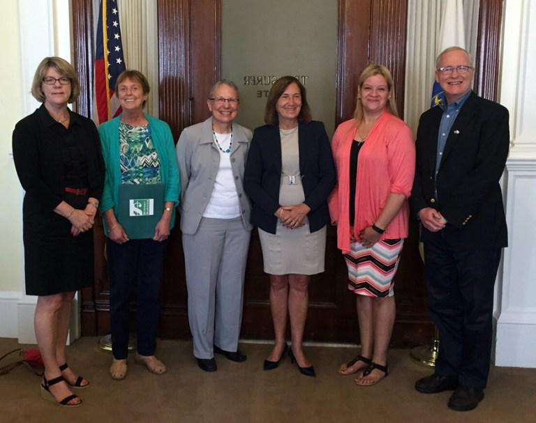 Budget Buddies Meet with Treasurer Goldberg
