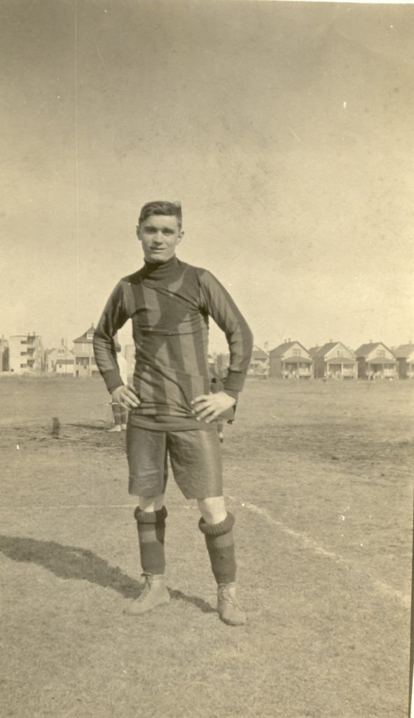 Man in soccer kit