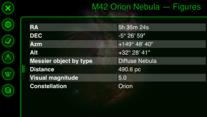 Orion Nebula Info