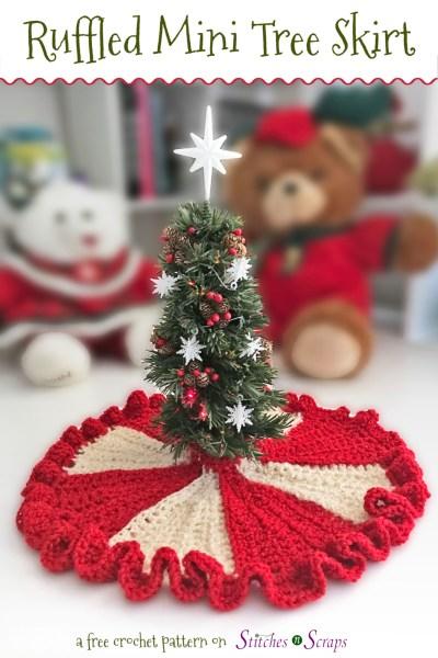 Mini Christmas Tree Skirt Pattern.Free Pattern Ruffled Mini Tree Skirt Stitches N Scraps