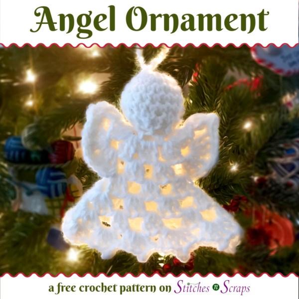 Angel Ornament - a free crochet pattern on Stitches n Scraps