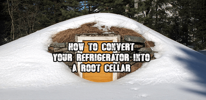 DIY Convert an old refrigerator into a root cellar