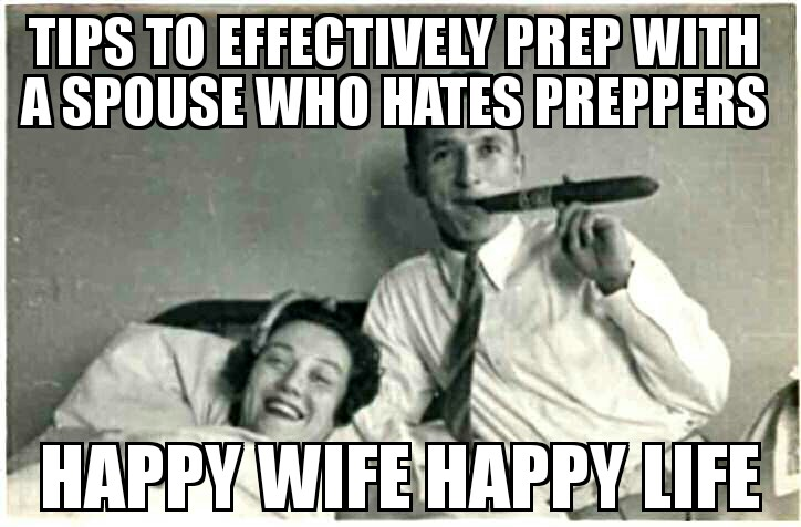 Tips to effectively prep with a spouse who hates