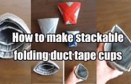 DIY: Stackable Folding Duct Tape Cups