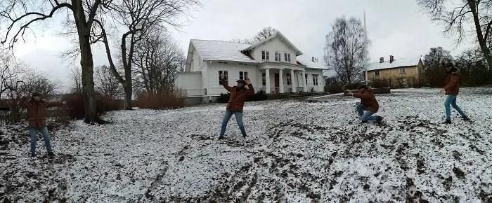 Svea y Pablo - Jugando con la nieve
