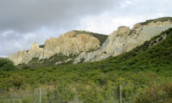 Clay Cliffs near Omarama in New  Zealand