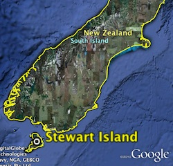 Map of Stewart Island location