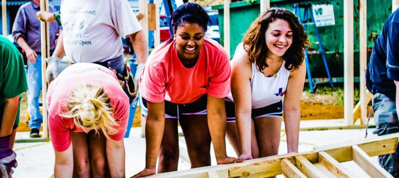 A-M-Commerce-Texas-Girls-Women-Working-Together-Team-Work-Construction-Leadership-Site-Example