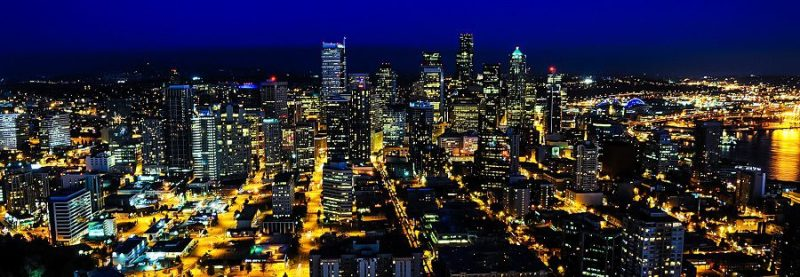 Space-Needle-Seattle-Night-Panorama-Photo-Tech-Regions-Cities-Jobs-Location-Strategy