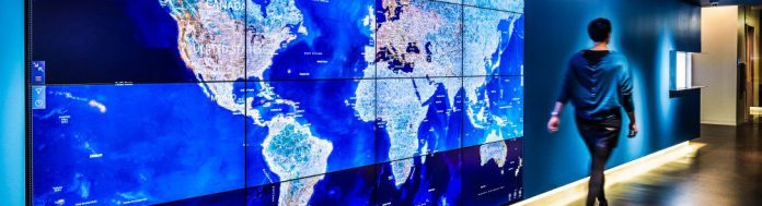 Microsoft Cybercrime investigation unit cyber intelligence map interactive live