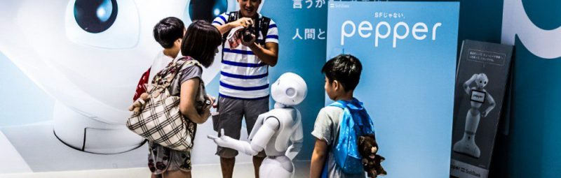 Pepper Robot Family Home Service Future Demonstration Retail Health Medical Hospital Hotel Guests