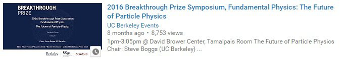 2016 Breakthrough Prize Symposium, Fundamental Physics The Future of Particle Physics