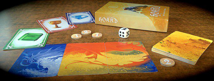 Hoard Items Cards Dice Table Board Game Fantasy