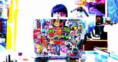 Laptop 2009 Dell Sticker Decals Comics Blogging Coding Working Home Modern Startup Office Agile PS