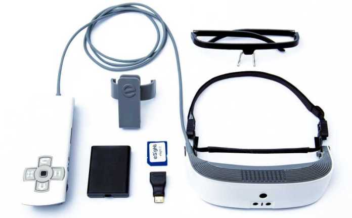 eSight Wearable Legally Blind Low Vision Visor Device Whats In The Box Gear Hardware Software Design Innovation Controller Card Camera