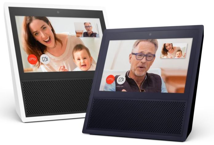 Amazon Echo Show Black and White Video Conferencing Calls Alexa