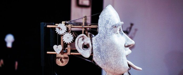 Robots Face Expression Artificial Three Tongue Facial Mouth Movement Asimov Laws Robotics Blue White Background