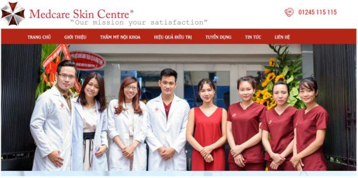 Vietnamese Medcare Skin Centre Resident Evil Umbrella Corporation Logo Staff Team Photo