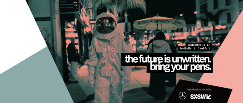 me convention mercedes daimler sxsw event future astronaut suit