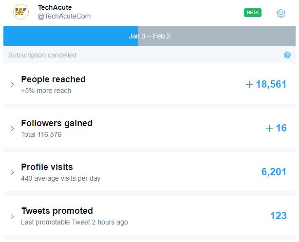 Twitter Promoter Mode Autopilot Statistic Screenshot Beta