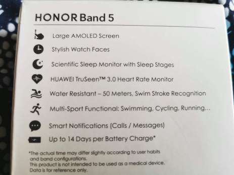Review of the Honor Band 5 for under £30 12