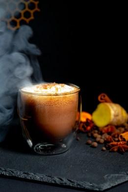 Turmeric spiced hot chocolate 1