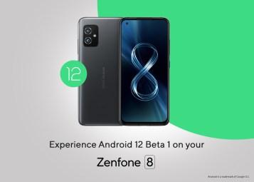 ASUS Zenfone 8 Android 12 Beta