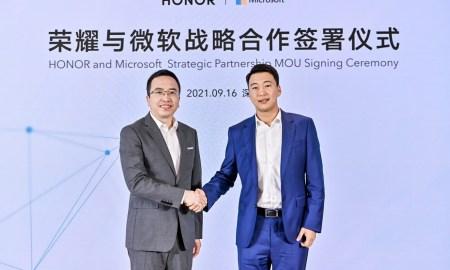 Honor partnership with microsoft