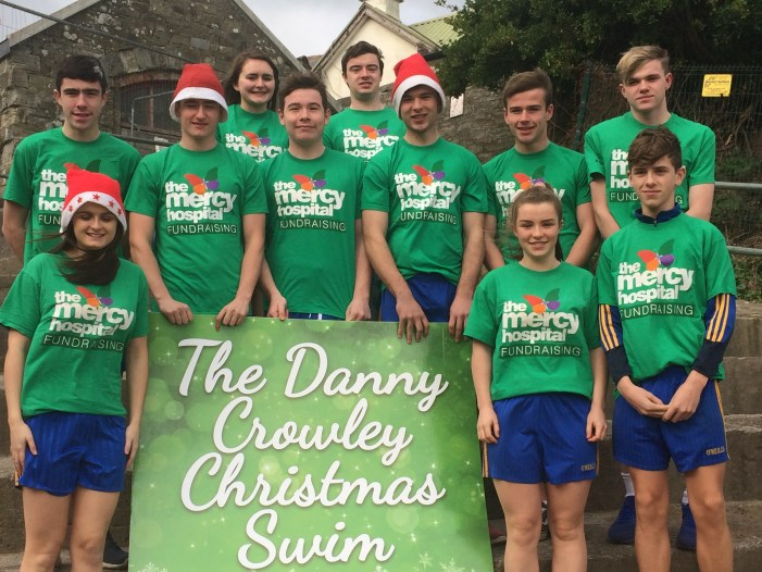 Carrigaline Christmas Day Charity Swim in memory of Danny Crowley to raise funds for The Mercy Kids + Teens Appeal