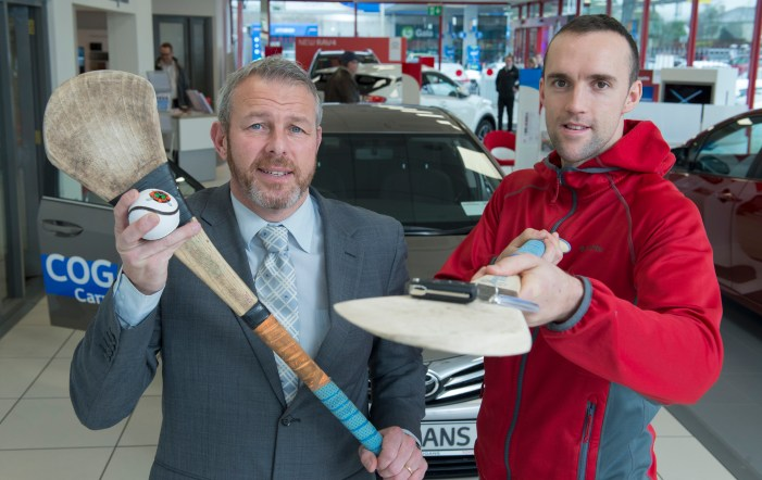 Cork Hurling Captain and Glen Rovers player Stephen McDonnell collects Brand Ambassador car