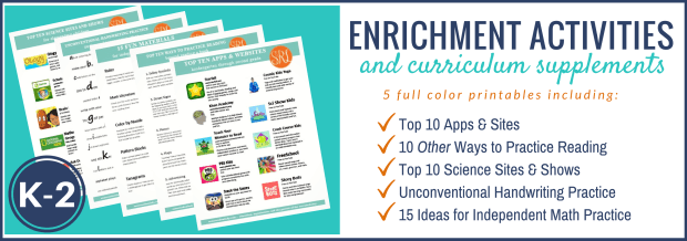 Free Printable Download: K-2 Enrichment and Curriculum Supplement Pack