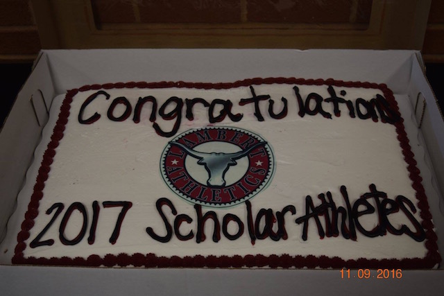 Newly signed seniors and their families were able to enjoy this cake as a post-signing celebration.