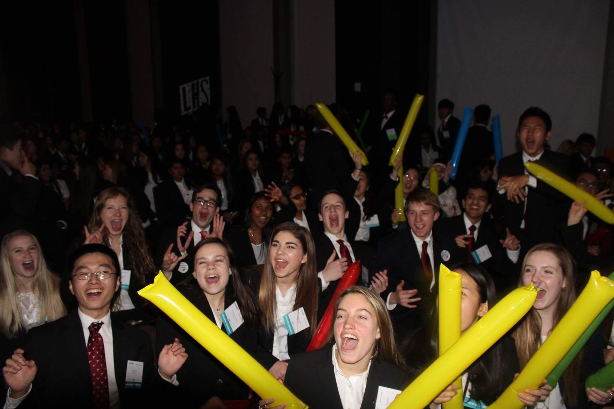 Lambert HOSA members celebrate their chapter and accomplishments.