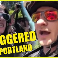 ANTIFA triggered at Portland Rally!