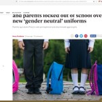 "Females Protest After School Creates ""Gender Neutral"" Uniform Forcing Girls To Wear Pants"