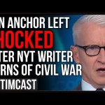CNN Anchor SHOCKED When NYT Writer Says 2nd Civil War Is COMING Unless Trump Wins In A Landslide
