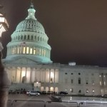 Dystopic Curfew Message at Capitol Hill Washington DC