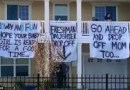 Old Dominion University Outraged after Vulgar signs Greet incoming Freshmen