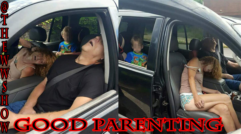 Great Parents On Heroin Pass out with a 4 yr old Boy in the Backseat