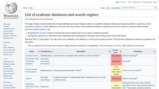 List of Academic Databases and...