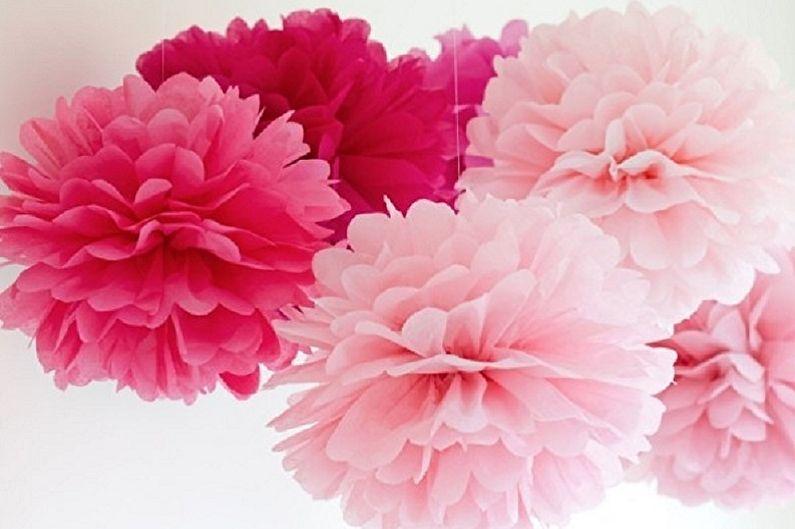 Λουλούδια από χαρτοπετσέτες το κάνουν μόνοι σας - παιώνια