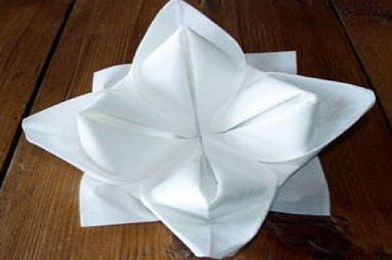 Λουλούδια από χαρτοπετσέτες το κάνουν μόνοι σας - Lotus