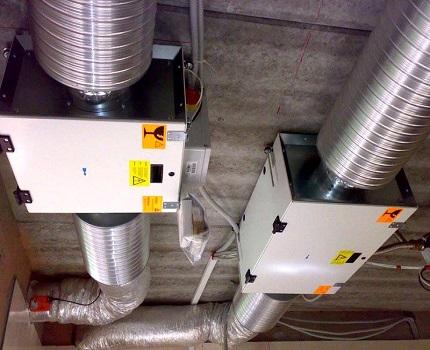 Ventilación mecánica en la casa.