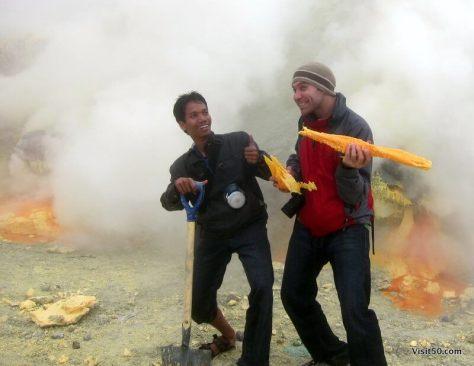 Sulfur mining at Kawah Ijen volcano   Java, Indonesia 41